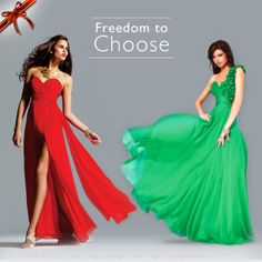 Don the colors of the season. What's your pick- the merry red or the festive green?