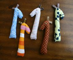 Cute and simple sewn rattle ponies for a first birthday, shower, or anytime.