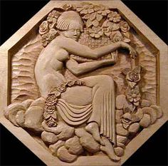 Custom Wood Carving, Custom Relief Woodcarving