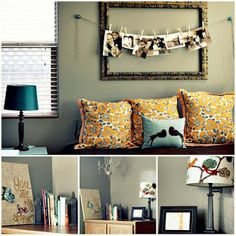 empty frame with clothespin photo garland