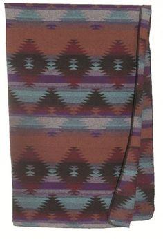 Couverture en laine au dessins amérindien, marque Wooded River