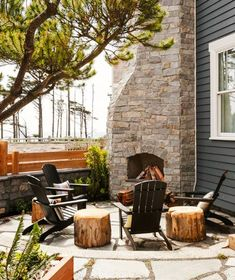 A cozy fire pit is just the thing for breezy beach nights The Novogratz Beach Home POPSUGAR Home Photo 15 Outdoor Rooms, Outdoor Gardens, Outdoor Living, Outdoor Decor, Outdoor Seating, Outdoor Ideas, Outdoor Plants, Outdoor Tables, Casa San Sebastian