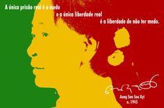 File:A única prisão real é o medo e a única liberdade real é a liberdade de não ter medo. Aung San Suu Kyi, n. 1945 -pt.svg