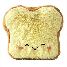 Mini Comfort Food Loaf of Bread: An Adorable Fuzzy Plush to Snurfle and Squeeze! Food Pillows, Welcome On Board, Alfalfa Sprouts, Sandwich Fillings, Barbeque Sauce, Squishies, Plush, Bread, Dolls