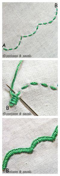 Embroidery Edge Stitch -  刺绣13-17                                                                                                                                                                                 More
