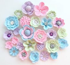 Hand made pink/blue/green/lilac felt flowers, felt roses. Felt flower crown, flower headband, flower Evil eye beads, which will be among … Felt Roses, Felt Flowers, Diy Flowers, Fabric Flowers, Paper Flowers, Ribbon Flower, Ribbon Hair, Hair Bows, Felt Flower Diy