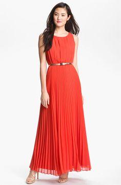 Eliza J Pleated Chiffon Maxi Dress | Nordstrom
