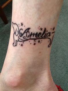 My Dachshund Tattoo Around Ankle