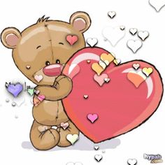 Cute Bear Drawings, Cute Cartoon Drawings, Cute Cartoon Animals, Cute Love Pictures, Cute Love Gif, Cute Images, Emoji Happy Face, Gif Bonito, Teddy Bear Quotes