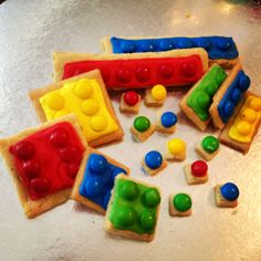 Lego cookies for Ninjago Party - party favors Ninja Birthday Parties, Birthday Fun, Birthday Party Themes, Birthday Ideas, Ninjago Party, Lego Ninjago, Party Gifts, Party Favors, Party Time