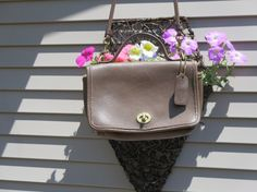 COACH~CASINO CrossBody Taupe Glove Leather Messenger Bag Number 9924- Excellent Used Condition