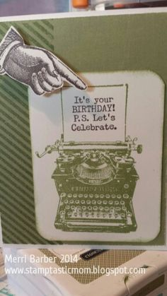 Playing with Typed Note, April 2015 CTMH Stamp of the Month