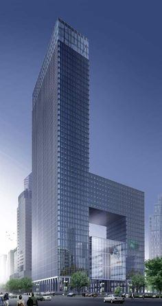 Poly Cultural Plaza, Wuhan, China by Skidmore Owings & Merrill (SOM) Architects and CSADI :: 46 floors, height 211m