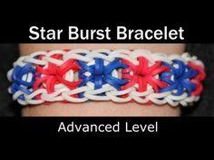 ▶ Lesson 25: Rainbow Loom® StarBurst Bracelet - YouTube