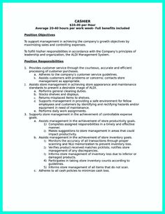 Cashier Resume Example - Print this sample and use it as a ...
