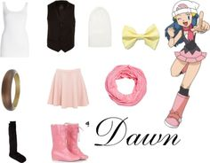 """Dawn/ Pokemon"" by apparelala on Polyvore"