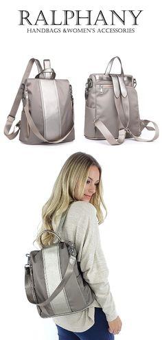 Women's Bags Impartial 2019 Fashion Patchwork Girls Backpacks Women Shoulder Bag Waterproof Nylon School Bags Multi-function Large Backpack Mochila New Terrific Value