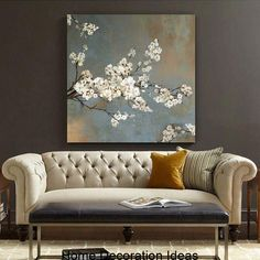 Find more Painting and calligraphy Information about White cherry tree oil on canvas wall art . Tree Canvas, Flower Canvas, Canvas Wall Art, Painting Canvas, Canvas Prints, White Cherries, Blossom Trees, Cherry Blossoms, Cherry Tree