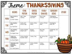 Tot School: Thanksgiving - Mrs. Plemons' Kindergarten