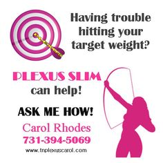 Plexus Slim is ALL NATURAL!   60 day money back guarantee! www.tnplexuscarol.com
