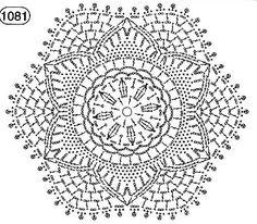 Crochet Mandala Pattern, Crochet Diagram, Doily Patterns, Crochet Patterns, Crochet Dollies, Crochet Flowers, Crochet Lace, Thread Crochet, Crochet Stitches
