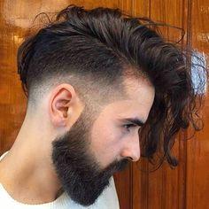 Undercut Long Hair, Undercut Hairstyles, Cool Hairstyles, Men Undercut, Creative Hairstyles, Medium Hairstyles, Hairstyle Ideas, Hair Ideas, Beard Styles For Men