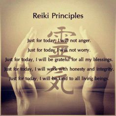 The Reiki Principles/Precepts are the foundation upon which the system of Reiki is built