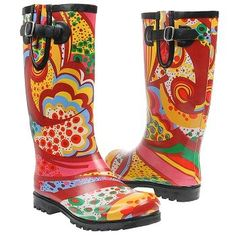 Women's Nomad Puddles Rain Boot Orange Monet Shoes.com