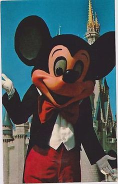 "Beautifully preserved postcard featuring Mickey Mouse in Walt Disney World, Florida. The Vacation Kingdom Of The World. Back of Postcard reads: ""Welcome To Fantasyland!"" Mickey Mouse is one of a host"