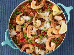 Make-Ahead Paella Casserole Recipe : Rachael Ray : Food Network - FoodNetwork.com
