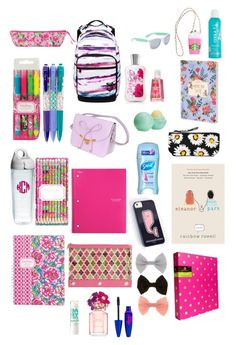 """What's In My BackPack. ☺️"" by avelindaban ❤ liked on Polyvore"