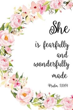 Scripture Quotes Bible-She is fearfully and wonderfully made. (Psalms Scripture Quotes Bible-She is fearfully and wonderfully made. Bible Psalms, Bible Verses Quotes, New Quotes, Bible Scriptures, Psalms Quotes, Funny Quotes, Bible Verses For Girls, Heart Quotes, Wisdom Quotes