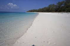 white beach of Jaco island