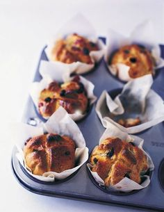 These sticky hot cross buns are a delicious twist on a classic Easter recipe.