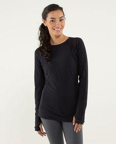 Lululemon Full Tilt Long Sleeve Top in Black