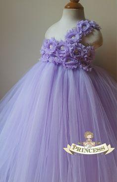 Lavender flower girl dress tutu dress by Theprincessandthebou