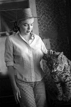 Marilyn, gingham and a bobcat!!!!!