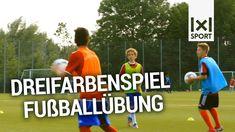 AUFWÄRMEN Fußballtraining: Dreifarbenspiel