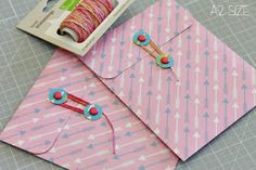 the Lawn Fawn blog: button & string envelopes with Nicole