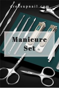 THE MANICURE SET HAS EVERYTHING YOU NEED FOR HIM AND HER. THE SET CAN BE A GOOD GIFT. THE INSTRUMENTS ARE STORED IN A QUALITY LEATHER CASE.    #nails #manicureset #dressupnail Kids Manicure, Manicure Set, Nail File, Short Nails, Nail Clippers, Natural Nails, Toe Nails, Leather Case, Instruments