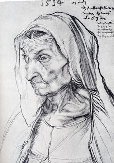 """Durer's Mother"" The Most Famous Paintings: Albrecht Durer Biography and Paintings/1471-1528"