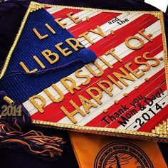 Patriotic #Graduation Cap