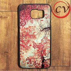 Autumn Leaf Cherry Blossoms Samsung Galaxy S7 Edge Case