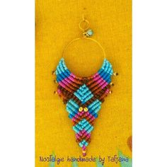 Macrame and wire earrings https://www.facebook.com/Nostalgie-Handmade-by-Tatjana-425760884176858/