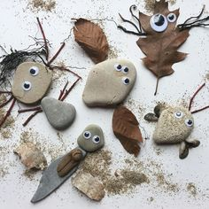 ...We made these nature critters after our beach adventure at Grant Park! #earlylearning101 #naturefinds #naturewalk