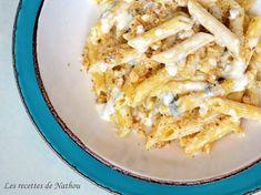 Pennes sauce crémeuse au gorgonzola et aux noix