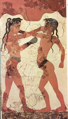 Boxing Boys, from Thera on Santorini, fresco, Minoan culture
