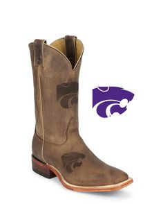 Men's KSU Brown Cowhide Branded Boot: http://www.countryoutfitter.com/products/27463-mens-ksu-brown-cowhide-branded-boot