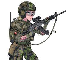 Anime Military, Military Girl, Fantasy Comics, Anime Fantasy, Comic Pictures, Manga Pictures, Military Archives, Military Drawings, Uniform Design