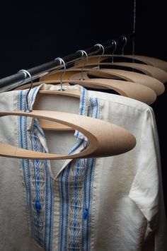 #wooden #curved #hangers